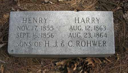 ROHWER, HENRY - Washington County, Nebraska   HENRY ROHWER - Nebraska Gravestone Photos