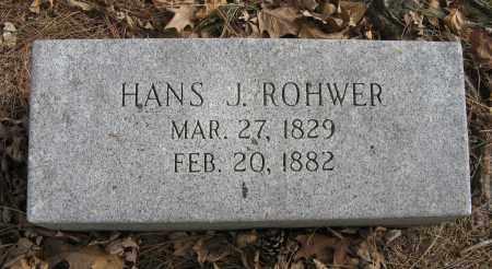 ROHWER, HANS J. - Washington County, Nebraska   HANS J. ROHWER - Nebraska Gravestone Photos