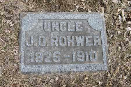 ROHWER, J. D. - Washington County, Nebraska   J. D. ROHWER - Nebraska Gravestone Photos