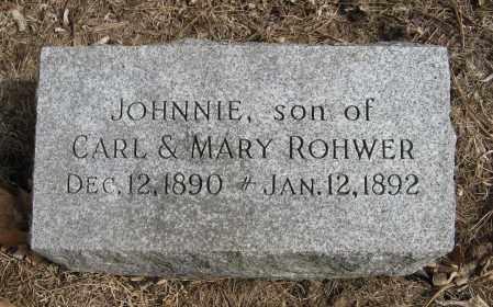 ROHWER, JOHNNIE - Washington County, Nebraska   JOHNNIE ROHWER - Nebraska Gravestone Photos