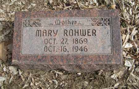 ROHWER, MARY - Washington County, Nebraska | MARY ROHWER - Nebraska Gravestone Photos