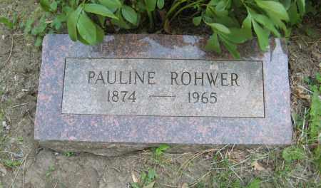 ROHWER, PAULINE - Washington County, Nebraska | PAULINE ROHWER - Nebraska Gravestone Photos