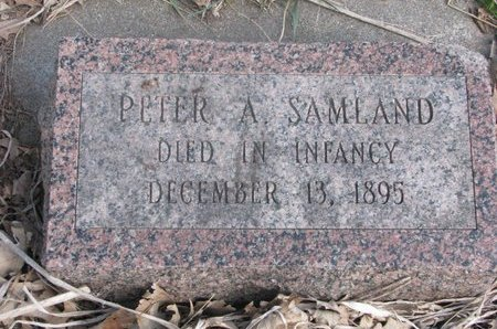 SAMLAND, PETER A. - Washington County, Nebraska | PETER A. SAMLAND - Nebraska Gravestone Photos