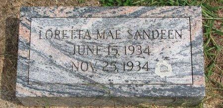 SANDEEN, LORETTA MAE - Washington County, Nebraska   LORETTA MAE SANDEEN - Nebraska Gravestone Photos