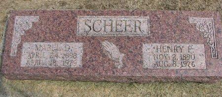 SCHEER, MABEL D. - Washington County, Nebraska | MABEL D. SCHEER - Nebraska Gravestone Photos