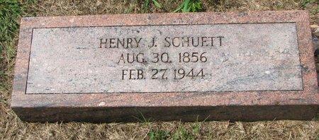SCHUETT, HENRY J. - Washington County, Nebraska   HENRY J. SCHUETT - Nebraska Gravestone Photos
