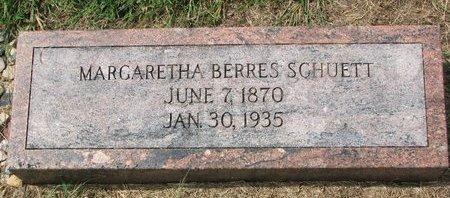 BERRES SCHUETT, MARGARETHA - Washington County, Nebraska | MARGARETHA BERRES SCHUETT - Nebraska Gravestone Photos