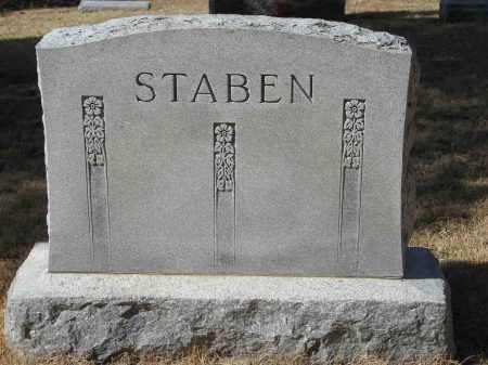 STABEN, (FAMILY MONUMENT) - Washington County, Nebraska   (FAMILY MONUMENT) STABEN - Nebraska Gravestone Photos