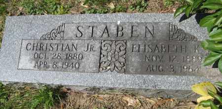 STABEN, CHRISTIAN JR. - Washington County, Nebraska   CHRISTIAN JR. STABEN - Nebraska Gravestone Photos
