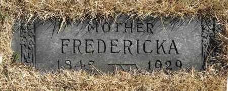 STABEN, FREDERICKA - Washington County, Nebraska   FREDERICKA STABEN - Nebraska Gravestone Photos