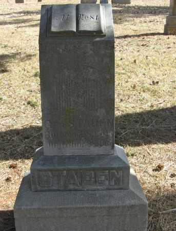 STABEN, GEORGE - Washington County, Nebraska   GEORGE STABEN - Nebraska Gravestone Photos