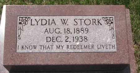 STORK, LYDIA W. - Washington County, Nebraska | LYDIA W. STORK - Nebraska Gravestone Photos