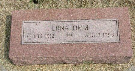 TIMM, ERNA AUGUSTA EMILY - Washington County, Nebraska | ERNA AUGUSTA EMILY TIMM - Nebraska Gravestone Photos