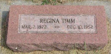 TIMM, REGINA EMMA - Washington County, Nebraska   REGINA EMMA TIMM - Nebraska Gravestone Photos