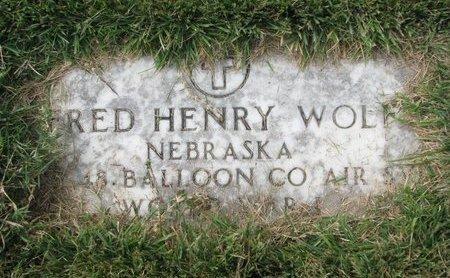 WOLF, FRED HENRY (MILITARY) - Washington County, Nebraska | FRED HENRY (MILITARY) WOLF - Nebraska Gravestone Photos