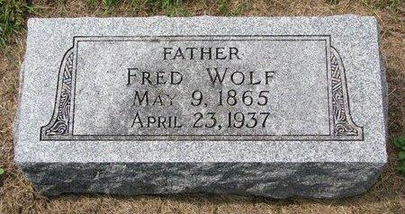 WOLF, FRED - Washington County, Nebraska | FRED WOLF - Nebraska Gravestone Photos