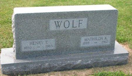 WOLF, MATHILDA K. - Washington County, Nebraska   MATHILDA K. WOLF - Nebraska Gravestone Photos
