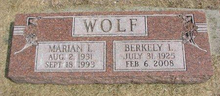 WOLF, BERKELY I. - Washington County, Nebraska | BERKELY I. WOLF - Nebraska Gravestone Photos
