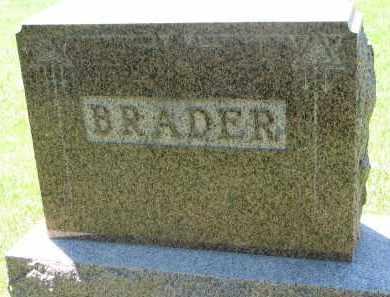 BRADER, FAMILY STONE - Wayne County, Nebraska | FAMILY STONE BRADER - Nebraska Gravestone Photos