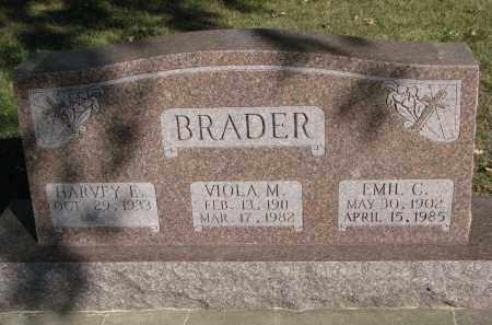 BRADER, HARVEY E. - Wayne County, Nebraska   HARVEY E. BRADER - Nebraska Gravestone Photos