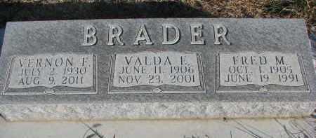 BRADER, FRED M. - Wayne County, Nebraska | FRED M. BRADER - Nebraska Gravestone Photos