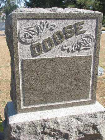 DOOSE, FAMILY STONE - Wayne County, Nebraska | FAMILY STONE DOOSE - Nebraska Gravestone Photos