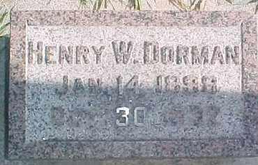 DORMAN, HENRY W. - Wayne County, Nebraska | HENRY W. DORMAN - Nebraska Gravestone Photos