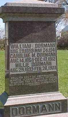 DORMANN, WILLIE - Wayne County, Nebraska | WILLIE DORMANN - Nebraska Gravestone Photos