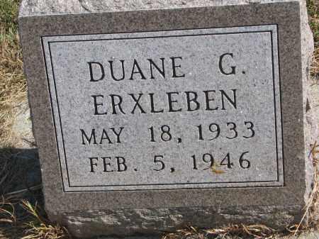 ERXLEBEN, DUANE G. - Wayne County, Nebraska | DUANE G. ERXLEBEN - Nebraska Gravestone Photos