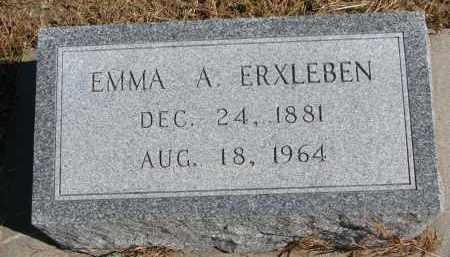 ERXLEBEN, EMMA A. - Wayne County, Nebraska | EMMA A. ERXLEBEN - Nebraska Gravestone Photos