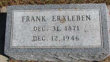 ERXLEBEN, FRANK - Wayne County, Nebraska | FRANK ERXLEBEN - Nebraska Gravestone Photos