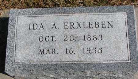 ERXLEBEN, IDA A. - Wayne County, Nebraska   IDA A. ERXLEBEN - Nebraska Gravestone Photos