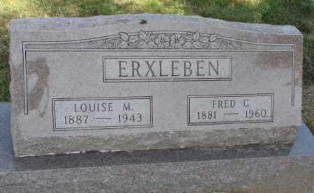 ERXLEBEN, FRED G. - Wayne County, Nebraska   FRED G. ERXLEBEN - Nebraska Gravestone Photos