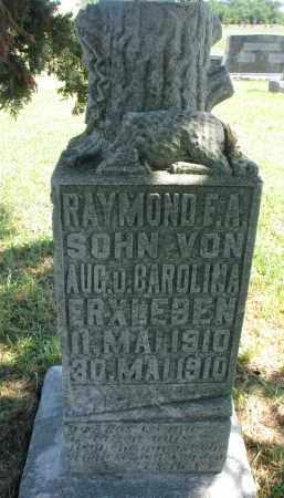 ERXLEBEN, RAYMOND E.A. - Wayne County, Nebraska | RAYMOND E.A. ERXLEBEN - Nebraska Gravestone Photos