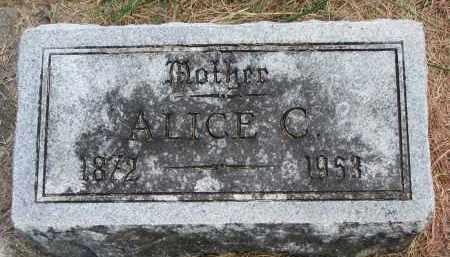 FISHER, ALICE C. - Wayne County, Nebraska | ALICE C. FISHER - Nebraska Gravestone Photos