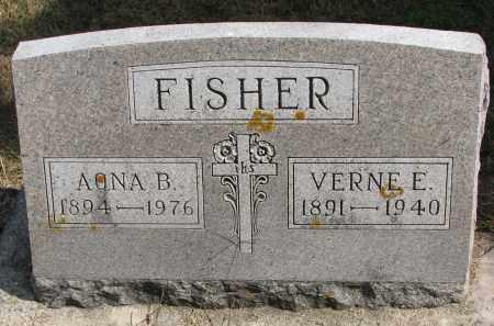 FISHER, AONA B. - Wayne County, Nebraska | AONA B. FISHER - Nebraska Gravestone Photos