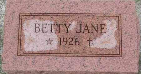 FISHER, BETTY JANE - Wayne County, Nebraska   BETTY JANE FISHER - Nebraska Gravestone Photos