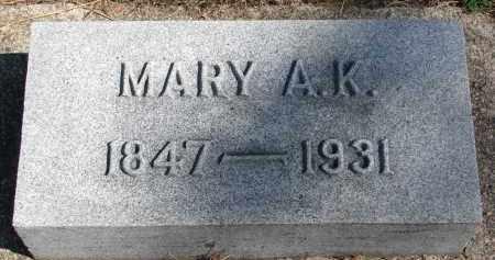 FISHER, MARY A.K. - Wayne County, Nebraska | MARY A.K. FISHER - Nebraska Gravestone Photos