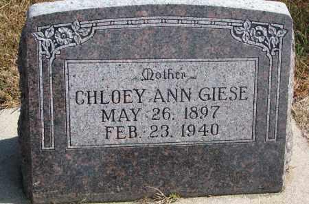GIESE, CHLOEY ANN - Wayne County, Nebraska   CHLOEY ANN GIESE - Nebraska Gravestone Photos