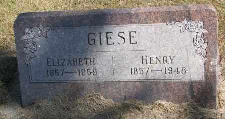 GIESE, HENRY - Wayne County, Nebraska | HENRY GIESE - Nebraska Gravestone Photos