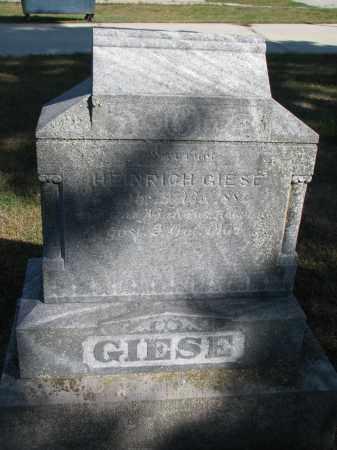 GIESE, HEINRICH - Wayne County, Nebraska   HEINRICH GIESE - Nebraska Gravestone Photos