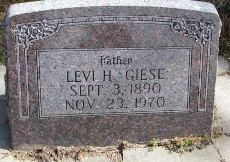 GIESE, LEVI H. - Wayne County, Nebraska   LEVI H. GIESE - Nebraska Gravestone Photos