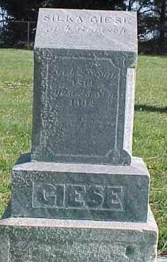 GIESE, SILKA - Wayne County, Nebraska | SILKA GIESE - Nebraska Gravestone Photos