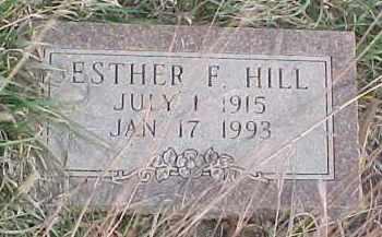 HILL, ESTHER F. - Wayne County, Nebraska | ESTHER F. HILL - Nebraska Gravestone Photos