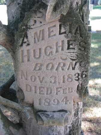 HUGHES, AMELIA (CLOSEUP) - Wayne County, Nebraska   AMELIA (CLOSEUP) HUGHES - Nebraska Gravestone Photos