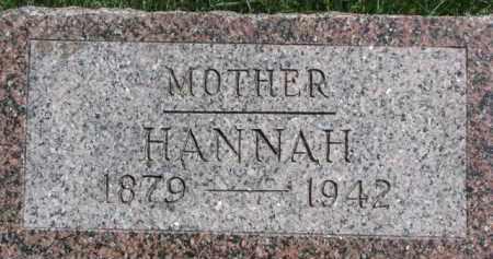 HUGHES, HANNAH - Wayne County, Nebraska | HANNAH HUGHES - Nebraska Gravestone Photos