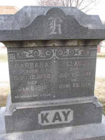 KAY, CLAUS - Wayne County, Nebraska | CLAUS KAY - Nebraska Gravestone Photos