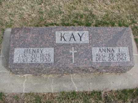 KAY, HENRY - Wayne County, Nebraska | HENRY KAY - Nebraska Gravestone Photos