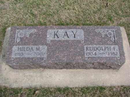 KAY, RUDOLPH F. - Wayne County, Nebraska | RUDOLPH F. KAY - Nebraska Gravestone Photos