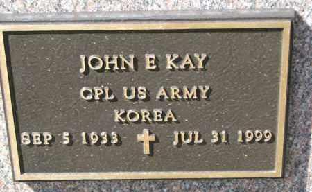 KAY, JOHN EMIL (MILITARY) - Wayne County, Nebraska   JOHN EMIL (MILITARY) KAY - Nebraska Gravestone Photos